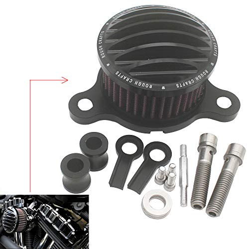 KIPA Sport Air Cleaner Intake Filter System Kit For Harley Davidson Sportster XL883 XL883N XL883R XL883P XL1200 XL1200L XL1200X Iron 883 Forty Eight XL1200X 2004-2016 Aluminum CNC Machined Washable