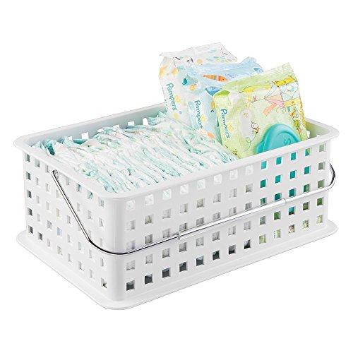 mDesign Nursery Organizer Basket Diapers