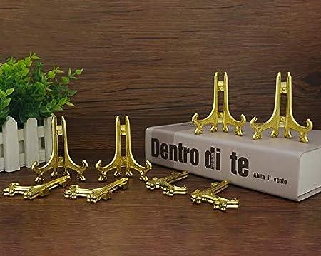 Tincogo 10 Pollici Nero Plastica Cavalletto Piastra Supporti per Immagini Casa Matrimonio Decorazione 6 Pezzi