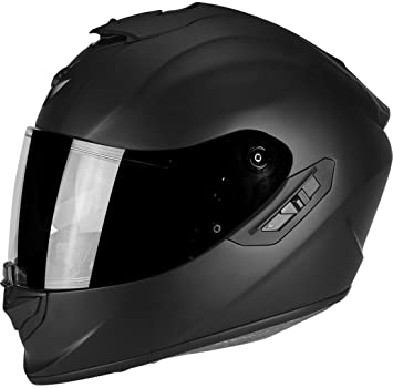 Scorpion Moto Casco Exo de 1400 Air Solid Mate Casco Integral fibra de vidrio con parasol