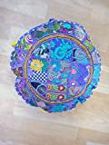 Indian Cotton Throw Floor Cushion Cover Vintage Embroidered Patchwork Meditation Floor Pillow Seat Pouf Cover,Living Room Vinatge Patchwork Cushion Cover, Pillow Throw,Handmade Cushion Cover,In