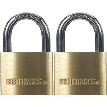 Brinks 161-40202 40mm 1-9/16-Inch Solid Brass Padlock, 2-Pack