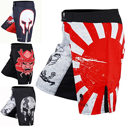 Men's Mixed Martial Art Shorts by VERUS (Red/White, Small)