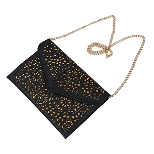 couleur sac national embrayage femmes R enveloppe bleue la de creuse a sac les diagonale en bandouliere Noire SODIAL pour a 6w5AqAP