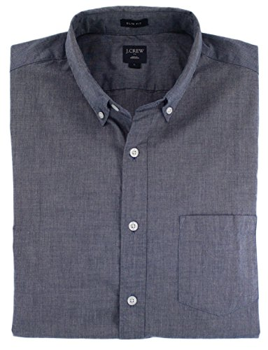 J.Crew - Men's - Slim-Fit Long-Sleeve Shirt (Solid & Print Options/Multiple Sizes) (Large, Montclair Navy) from J.Crew