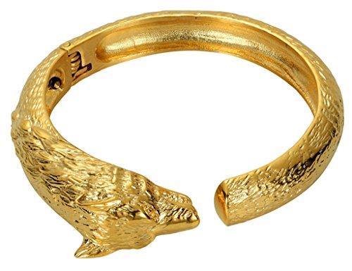 Aooaz Mens Bracelet Stainless Steel Bangle Bracelet Gold Wolf Head Adjustable Punk Retro Biker - Michael Cors