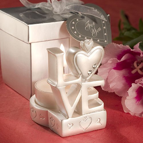 56 Love Design Candle Holder Favors by Fashioncraft