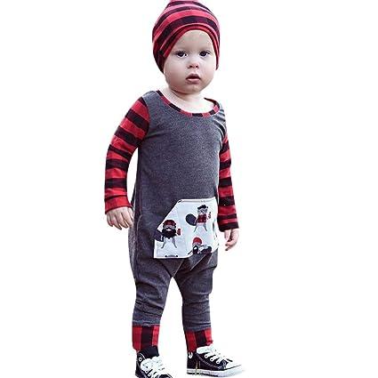 a7000a46c9c0 Amazon.com  Franterd Little Girls Boys Romper Spring Fall Winter ...