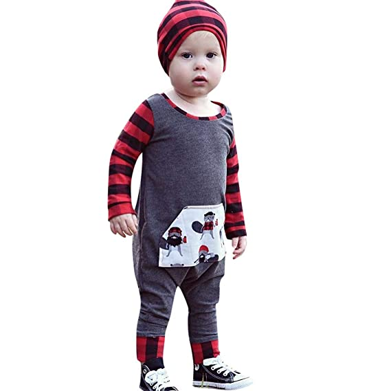 YanHoo Conjuntos de Ropa para bebés niño Conjunto de Sombrero de ...