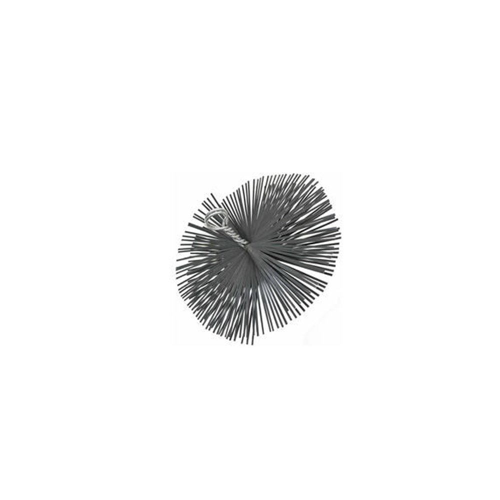 Scovolo tondo in acciaio con anello pulizia camino diametro 200 mm WEBMARKETPOINT