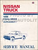 1986 Nissan Hardbody D21 Truck Repair Shop Manual Original Supplement Rear Differential End