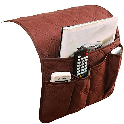 System Arms Accessory - PUTING Sofa Couch Armrest Cover Double Sided Waterproof Armrest Organizer, Fits for Phone, Book, Magazines, TV Remote Control