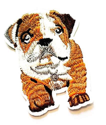 Nipitshop Patches Cute Pitbull Flagging Bulldog Dog Pet