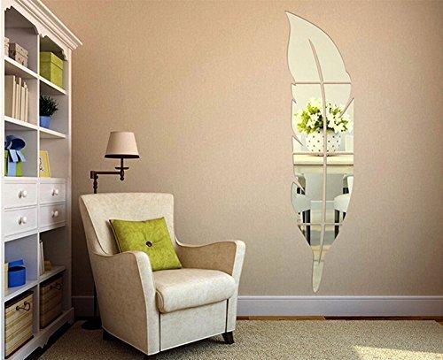 SUNYUM Wall Mirror Decorative-Unbreakable Acrylic Mirror-Mirror Full length-Wall Decors-Wall Mirror Sticker-Creative Interior Decoration-Not Real Mirror (Small) -