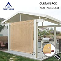 Alion Home Rod Pocket Sun Shade Panel w/ Eyelets on 3 Sides for Patio, Awning, Window Cover, Instant Canopy Side Wall, Pergola or RV