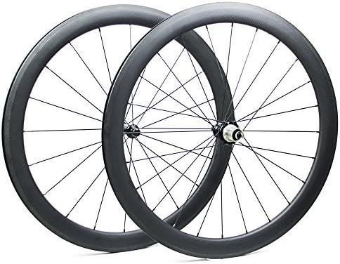 Yuanan Ruedas de Fibra de Carbono para Bicicleta de Carretera, 50 ...