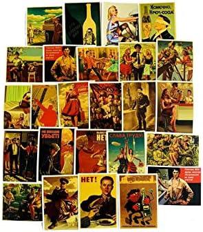 JIAQI Retro II Guerra Mundial Graffiti Pegatinas Maleta Refrigerador Monopatín PVC Impermeable Pegatinas 25 Hojas