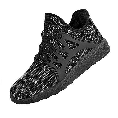 Sportivi Scarpe Corsa Sneakers Leggeri Ginnastica da da Confortevoli Uomo Grigio QANSI Nero Scarpe qIxR8XwRY