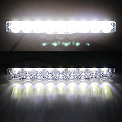YIJINSHENG Car Universal Fit 9 LED High Power LED Daytime Running Lights DRL Kit Extreme Bright Spot Fog Lamp Xenon White Auto Accessories: Automotive