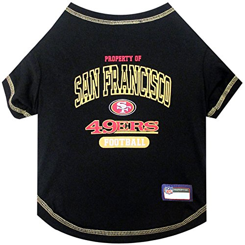 NFL SAN FRANCISCO 49ERS Dog T-Shirt, Small. - Cutest Pet Tee Shirt for the real sporty pup
