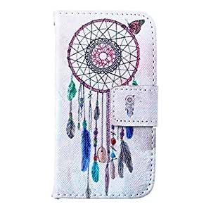 WQQ Wind Bells Pattern PU Leather Full Body Case for iPhone 4/4S