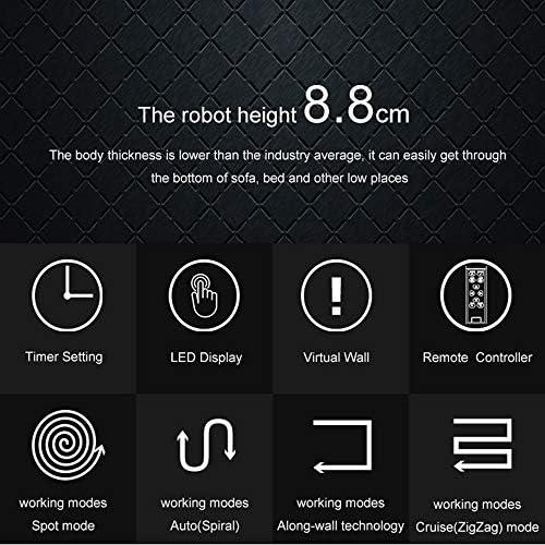 YOLANDE Robot Aspirateur avec Fonction D\'essuyage (150 Min. Durée De Fonctionnement, Aspirateur Et Aspirateur Robot Aspirateur pour Sols Durs,Retour À La Station De Charge)