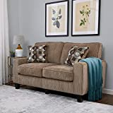 """Product review for Serta RTA Palisades Collection 61"""" Loveseat in Flagstone Beige"""