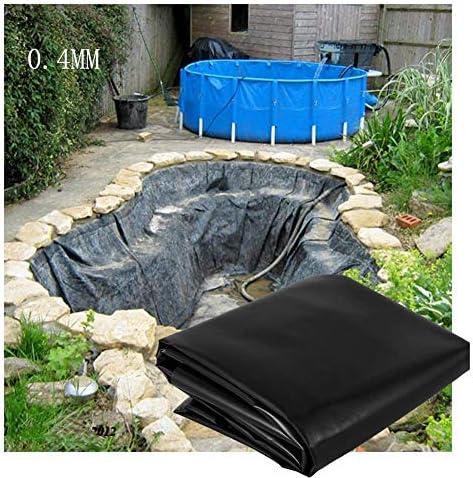 GDMING 人工池用透湿防水シート、 プールライナー、 魚 池ライナー、 パンク耐性 防水ライナー 布 ために ホーム ガーデンプール 滝 デコレーション 造園、 0.4mm 不浸透性 プラスチックフィルム 、42サイズ (Color : Black, Size : 8x14m)