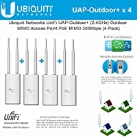 Ubiquiti UAP-Outdoor+ 4-pack UniFi AP Outdoor+ 2.4GHz PoE 802.11n 300Mbps 600ft