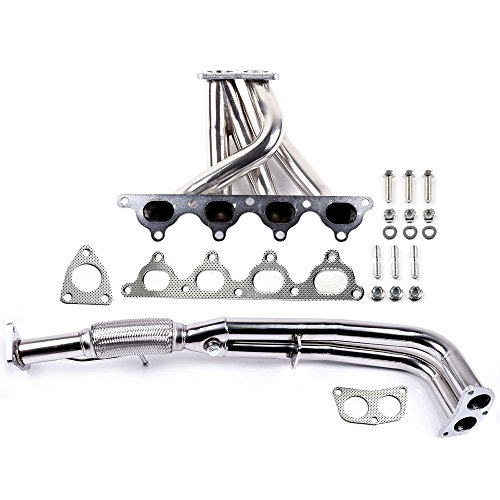 SCITOO Exhaust Manifold w/Gaskets Stainless Exhaust Manifold Pipe Set Fit Honda Accord CB 2.2 F22 F22A 4CYL 1990-1993 ()