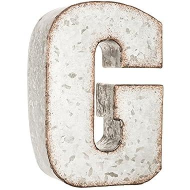 Galvanized Metal 3D Letter G