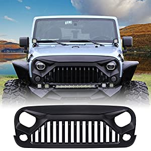 Amazoncom UMAX Front Matte Black Gladiator Grid Grill for Jeep