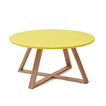 Bynnbz Table D Appoint Simple Moderne En Bois Massif Petite Table