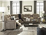 Workhorse Contemporary Cocoa Color Fabric Sectional Reclining Sofa and Loveseat With Console Review