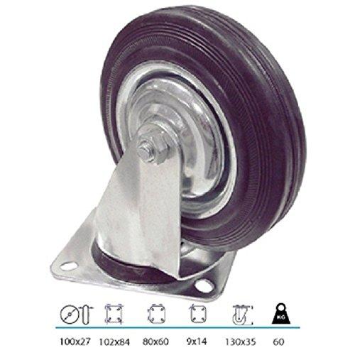 Roulette pivotante à 100 mm WTE