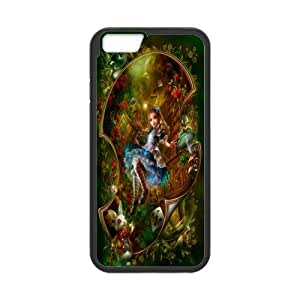 Onshop Custom Alice in Wonderland Cartoon Pattern Phone Case Laser Technology for iPhone 6 4.7 Inch