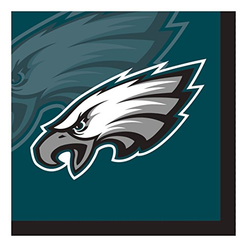 Creative Converting Officially Licensed NFL Paper Beverage Napkins, 192-Count, Philadelphia Eagles (Eagles Philadelphia Memory)