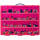 Life Made Better Carrying Case Toy Figure Organizer, Compatible with Mighty Beanz. This Box is Not Created by Mighty Beanz, Pink