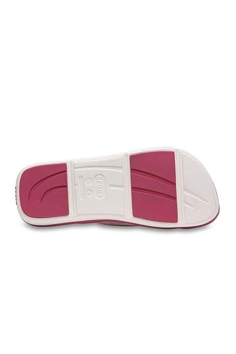 2f3f36d245289 Crocs Toe Post Sandal CAPTIVA, Color: White/Berry - Pink, Size: W5 - 34/35:  Amazon.co.uk: Shoes & Bags