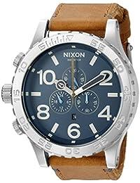 Nixon Men's A1242186 51-30 Chrono Leather Analog Display Japanese Quartz Brown Watch