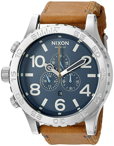 Nixon Men's A1242186 51-30 Chrono Leather Analog Display Japanese Quartz (Chrono Leather)
