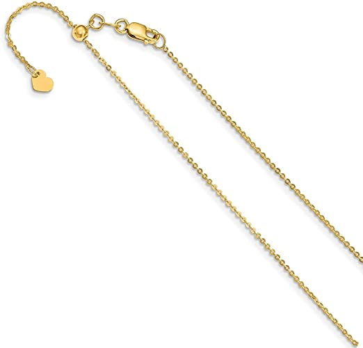 Jewelry Best Seller Leslie 14K 1.1 mm Flat Cable