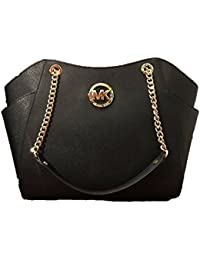 MICHAEL Michael Kors Women's Jet Set Travel Saffiano Large Chain Shoulder Tote, Style 35T5GTVT3L