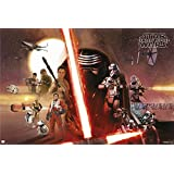 "Star Wars: Episode VII - The Force Awakens - Movie Poster / Print (Good Vs. Evil - All Characters) (Size: 36"" x 24"")"