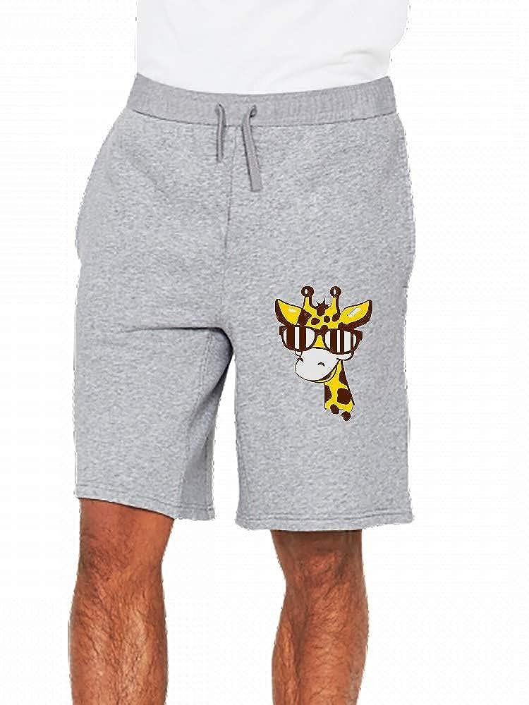 JiJingHeWang A Giraffe Mens Casual Shorts Pants
