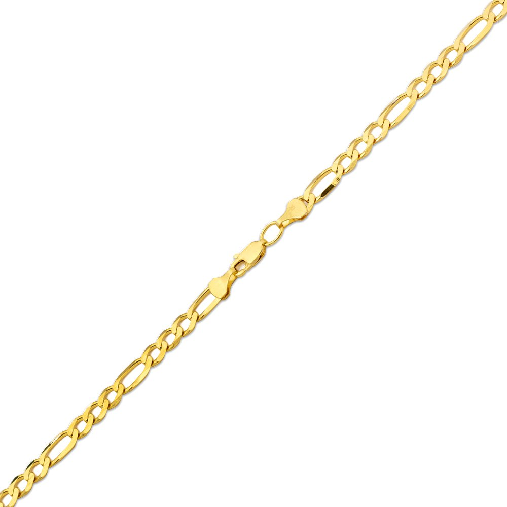 10K Yellow Gold 5.5mm Solid Figaro Chain Necklace (24 inches) by LOVEBLING (Image #2)