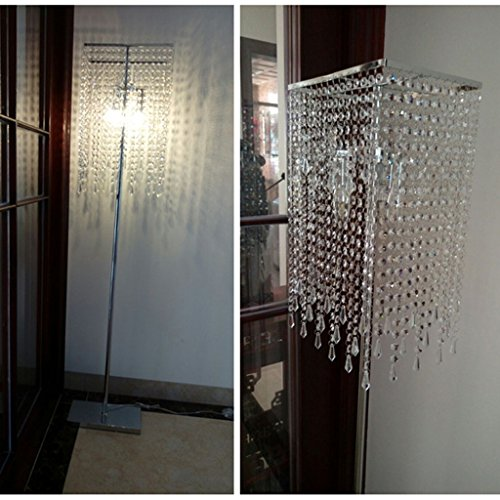 ETERN European luxury crystal floor lamp bedroom living room vertical table lighting by ETERN Floor Lamps (Image #1)