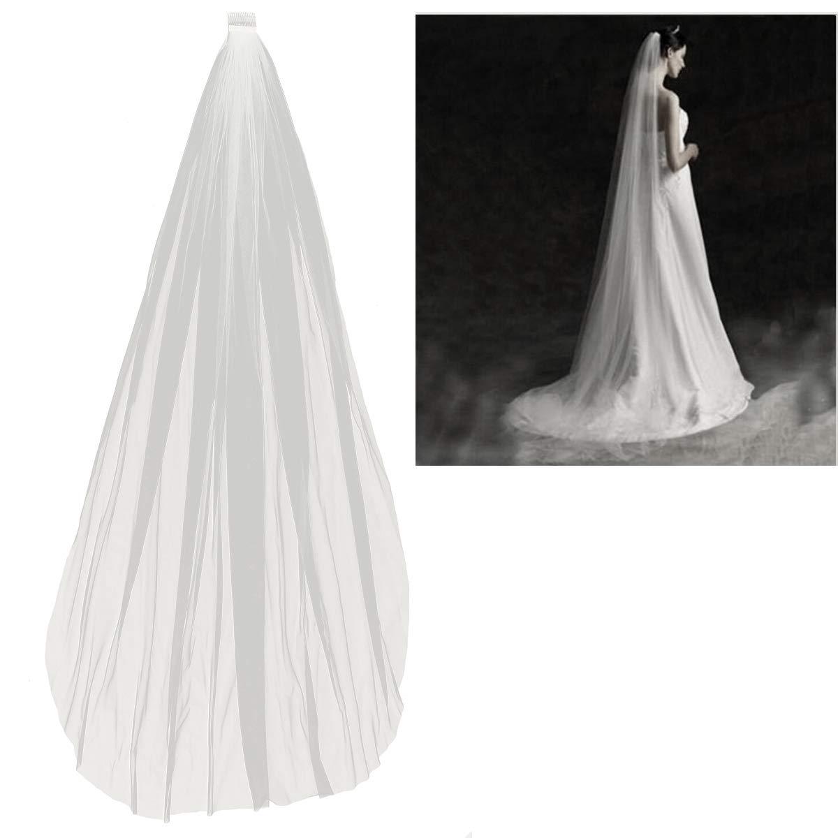 BESTOYARD Veli da sposa da sposa con pettini Accessori da sposa lunghi a singolo strato