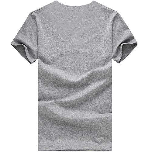 shirt Unisex Femme Casual T Chemise Adult Vêtements Manadlian Blouses Sport Impression Couple Homme Gris Tops De Été dEqwBH