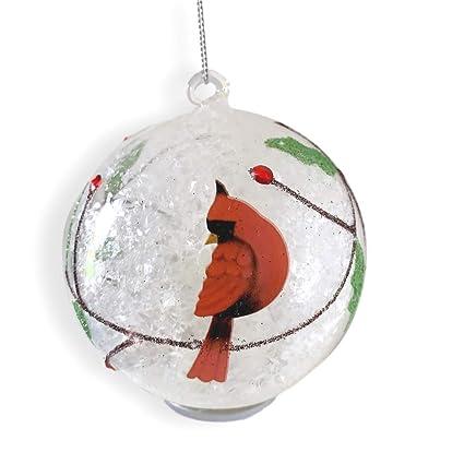 Amazon.com: BANBERRY DESIGNS Cardinal Christmas Ornament - Light Up Glass  Ball Ornament Cardinal Design - White Snow and Glitter Inside: Home &  Kitchen - Amazon.com: BANBERRY DESIGNS Cardinal Christmas Ornament - Light Up